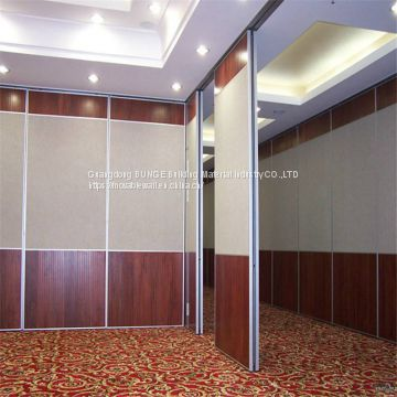 Movable Aluminum High Modern Wood Panels Office Hotel Sliding Folding Partition Walls