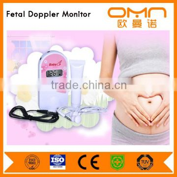 New 2.5MHz Integrated Design Pocket Fetal Doppler / LCD wireless Ultrasound Baby Heartbeats Monitor