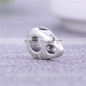 "Hot Sale Bali Wedding Bead Oxidized Thailand Solid 925 Silver Engagement Charms Wholesale Custom ""Love Is Kind"" Charm Bead"