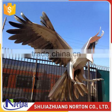 Large stainless steel eagle sculpture used for square decor NTS-017LI
