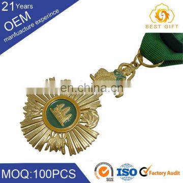 Custom wholesale religious metal medals and badge for promotion