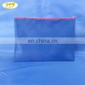 durable modeling nylon mesh bag with zipper comfortable feel file bag
