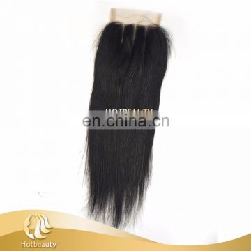Best quality one donor virgin Brazilian hair quality closure 4*4