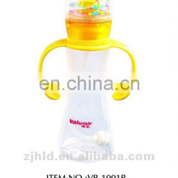 180ml Wonderful design patent music baby bottle with straw, baby products