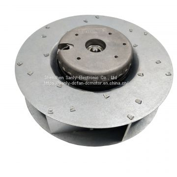 Three-Phase Nine-pole DC Brushless Motor with 190mm Reclining Centrifugal Fan