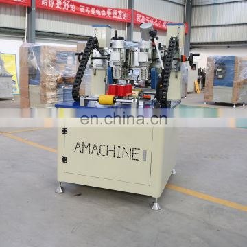 Advanced aluminum profile Knurling and strip feeding machine for window and door