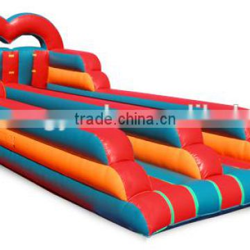 heart arch inflatable bungee run challenge,double lane inflatable bungee run,interactive sports bungee run