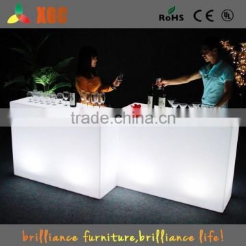 Hot sale LED furniture series LED glowing plastic cube table