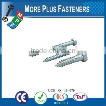Made in Taiwan stainless steel lag screw hex lag bolt lag screw