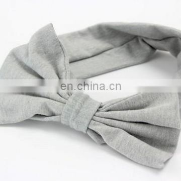 Messy Bow Headwrap Top Knot Newborn Headband Soft Cotton Baby Girl Headbands For Baby Shower