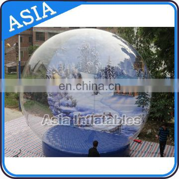 Inflatable Snow Globe with light and blowing snow for sale