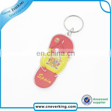 Custom acrylic plastic key chain blank keyring for promotion