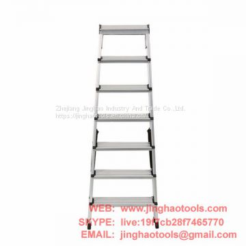 Aluminum double sided ladder 7 steps
