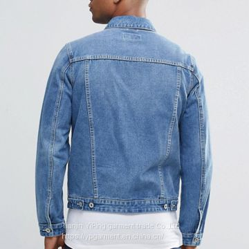 wholesale ripped denim jacket distressed denim jacket black plain Custom mens denim jacket