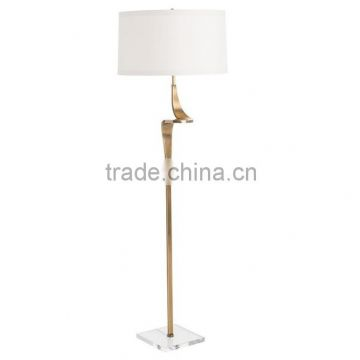 best quality wooden appearance metal art deco floor lamp