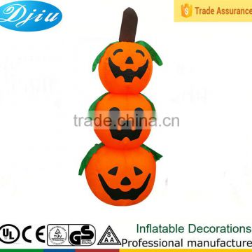 New tall led light Inflatable tractor Lighted 3 wire Pumpkin stacked commercial Halloween Decoration