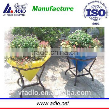 Design diamond shape factory garden plant bulk plastic flower pots