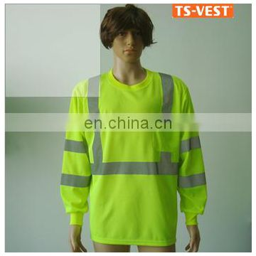 Long sleeve security shirt safety clothing