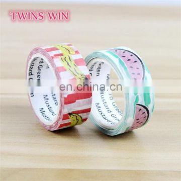 Small moq low price Custom Printed Tapes wholesale Decorative multi colored paper masking tape for school office use