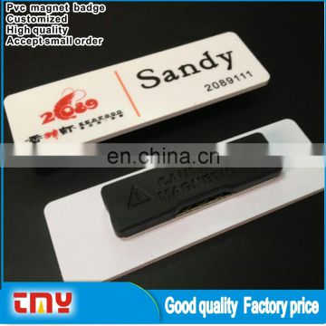 Oem Accept High Quality Printed Pvc Magnet Waterproof Badge Holders With Low Price