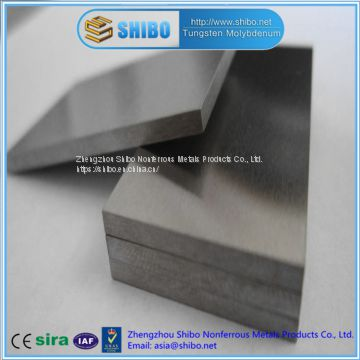 Factory Direct sale High Purity Molybdenum Plate, polished moly plate