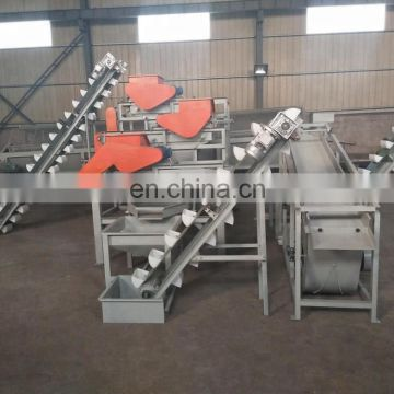 Automatic almond shelling machine production line