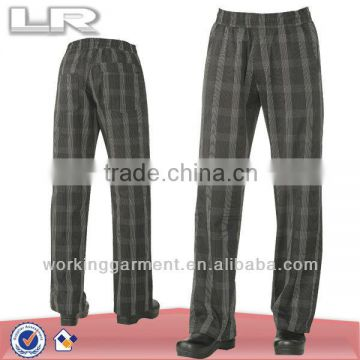 Better Built Baggy Mens Plaid Black Chef Pants
