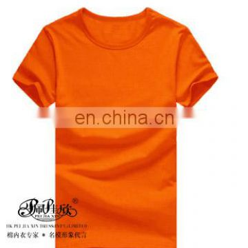 Peijiaxin Fashion Pure Color High Quality Bulk Wholesale Blank Fitted O Neck T-shirt