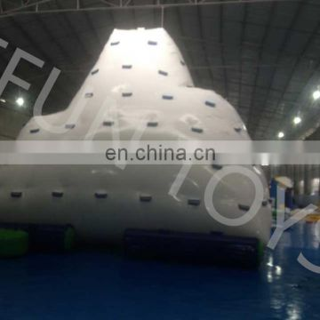 Hot sale high quality water park floating giant inflatable climbing icebergs for adults