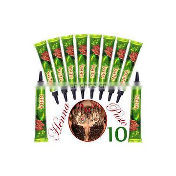10 cone box 1 Pack Neha Fast henna cone strong & Stable Temporary Art Tattoo tube Neha Herbal Fast Henna Mehandi Strong Red Tube
