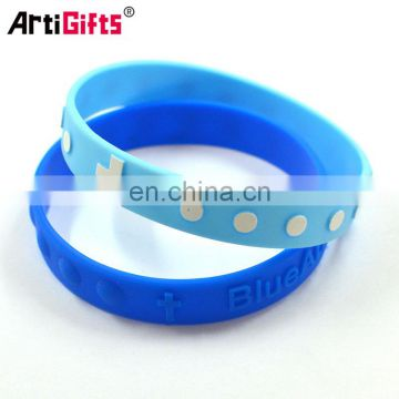 Promotional custom screenprinted silicone bands