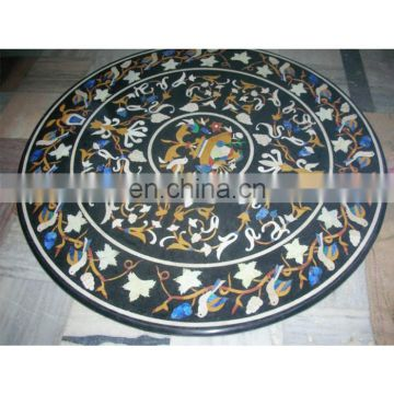 Marble Inlay Working Table Top , Stone Inlaid Table Top