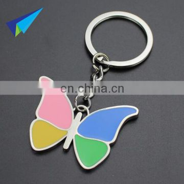 Manufacturers Selling Creative butterfly Metal Keychain Wholesale keychain