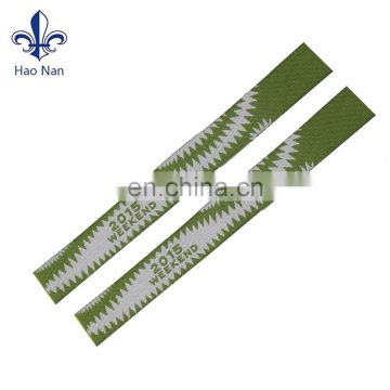 Top selling stylish popular high quality custom plastic clip woven wristband