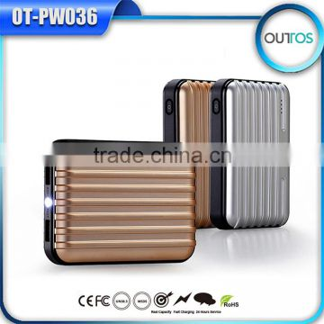 Fashion 2015 Portable Battery Power Bank 8800mah with Led Flash Light