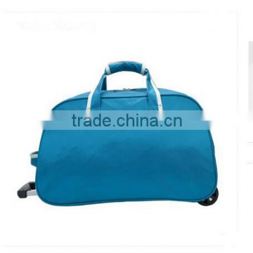 folding protable multifunctional travel trolley luggages 100% polyester