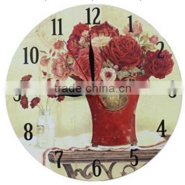 wooden wall clock with modern design