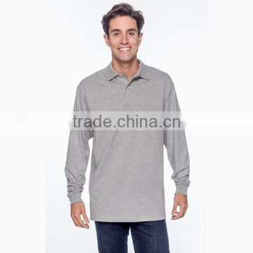 Custom 50/50 Jersey Men's Long Sleeve Polo shirt
