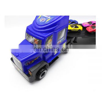 Trailer with 6pcs diecast car model toy two color mixs