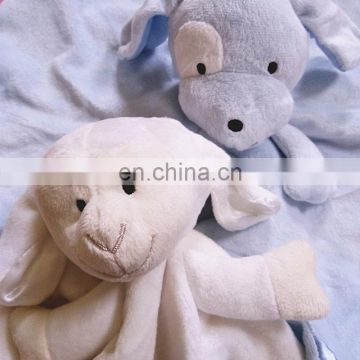 Hot sale baby plush blanket soft cotton animal head plush baby blanket minky baby blanket