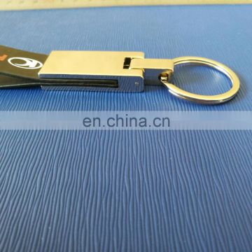advertising car leather keychain for promotional use
