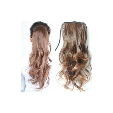 Double Layers 24 Inch Synthetic 16 Inches Hair Extensions Cambodian Double Layers