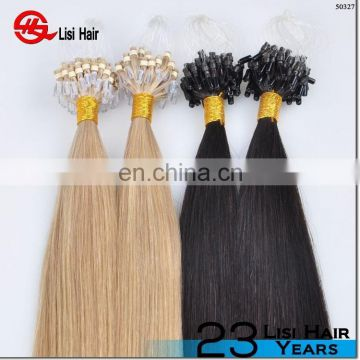 Qingdao Lisi Hair Factory Wholesale Best Quality microloops indian remy hair human