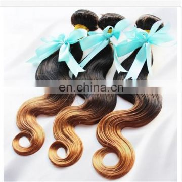 Best Selling 100% human ombre hair braiding hair, virgin brazilian ombre weave hair, sew in human hair weave ombre hair