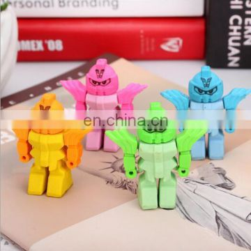 Cute 3D Robot Erasers stationary for student