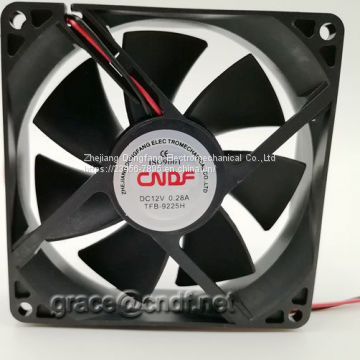 CNDF input low voltage 12VDC with high speed 2800rpm dc cooling fan 92x92x25mm TFS9225H12