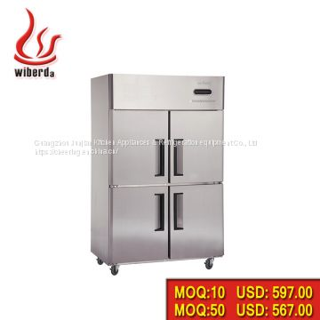 Stainless steel 4-Doors Freezers 1020L For commercial use