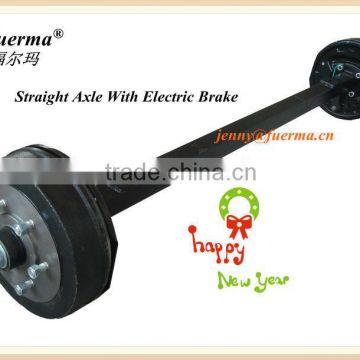 box trailer Axle With Electric Brake System