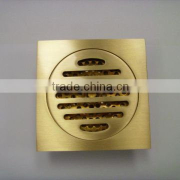 Purified Brass Floor Drain with brass nut T004