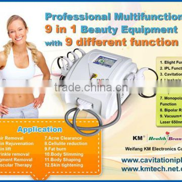 New designed cavitacion ultrasonica with hair removal ipl for salons/spa/clinic